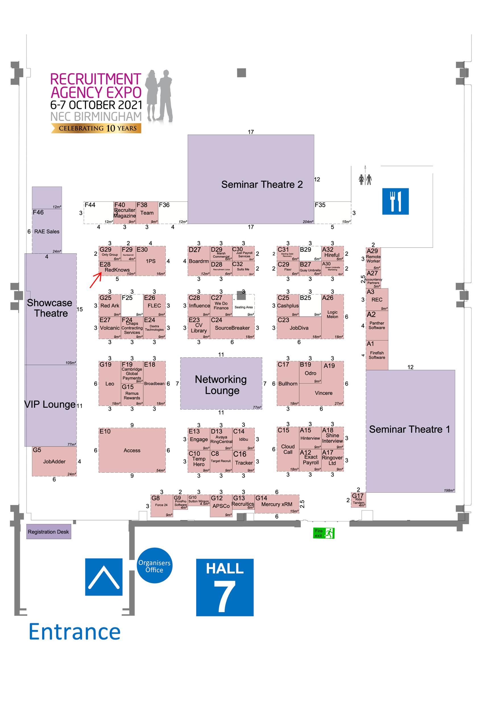 Recruitment expo map