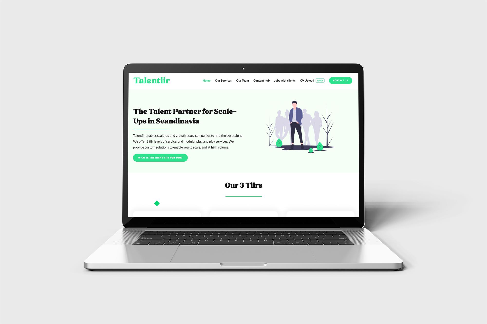 Talentiir website
